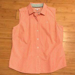 Nautica Sleeveless button down blouse Size L EUC